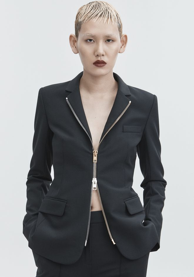 ALEXANDER WANG FITTED BLAZER  JACKETS AND OUTERWEAR  Adult 12_n_r