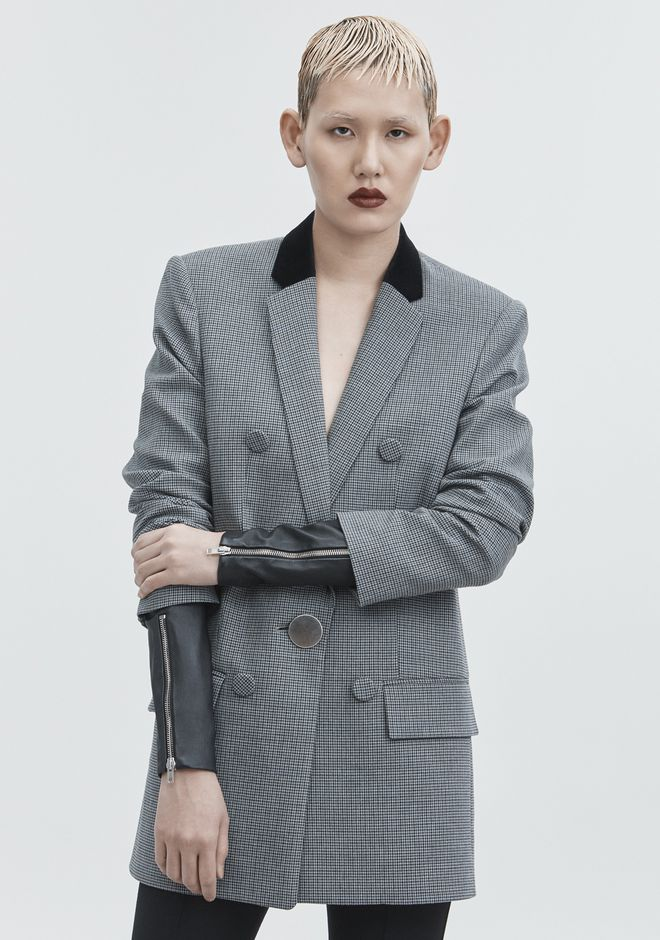ALEXANDER WANG HOUNDSTOOTH BLAZER JACKETS AND OUTERWEAR  Adult 12_n_r