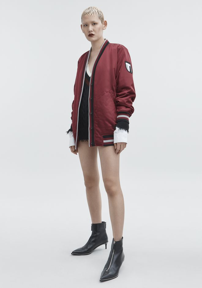 T by ALEXANDER WANG JACKETS AND OUTERWEAR  Women BOMBER CARDIGAN