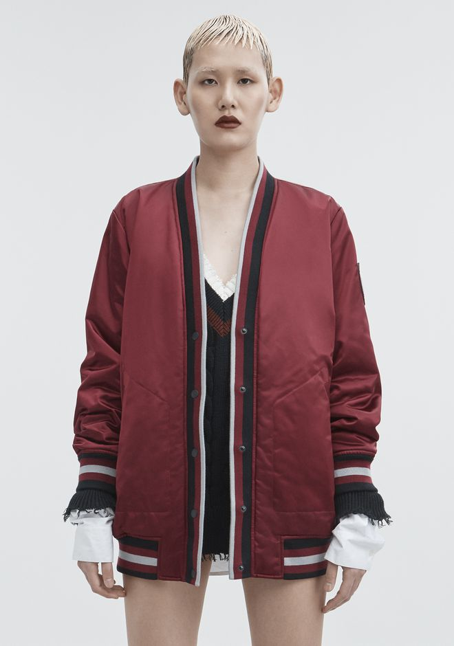 T by ALEXANDER WANG BOMBER CARDIGAN JACKETS AND OUTERWEAR  Adult 12_n_d