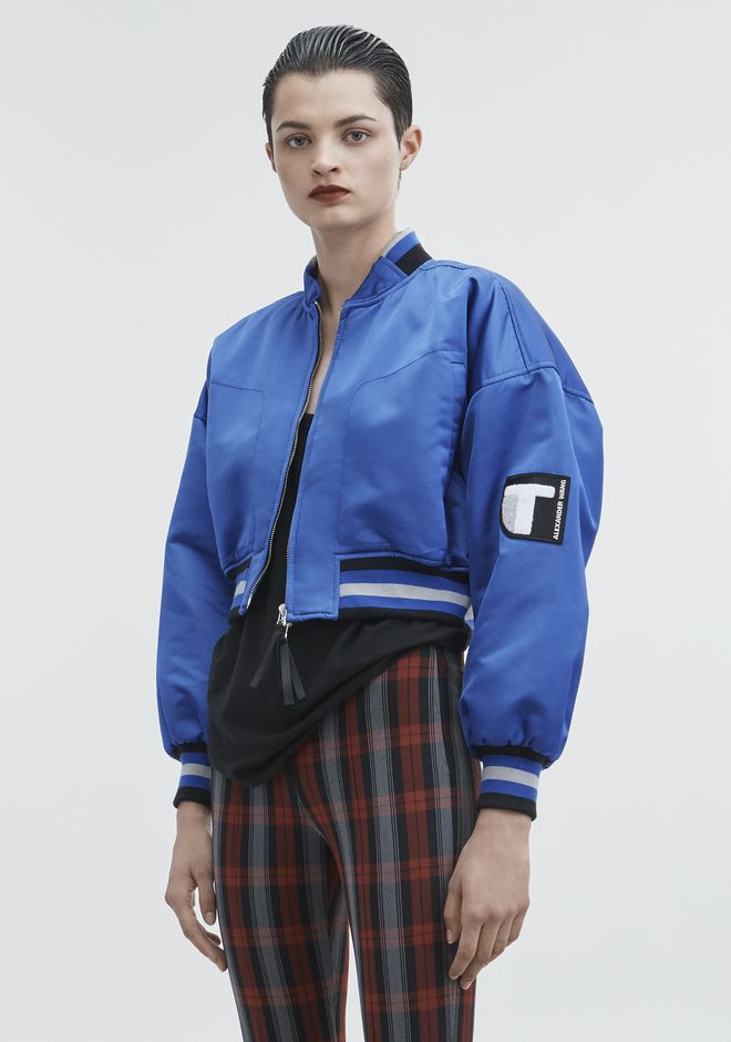 T by ALEXANDER WANG CROPPED BOMBER JACKETS AND OUTERWEAR  Adult 12_n_a