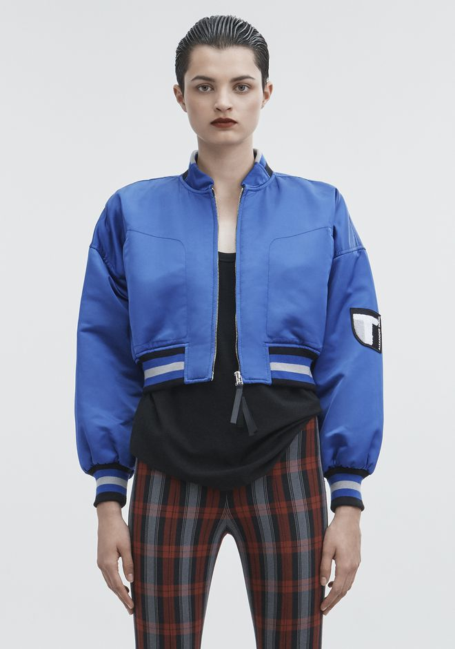 T by ALEXANDER WANG CROPPED BOMBER JACKETS AND OUTERWEAR  Adult 12_n_d
