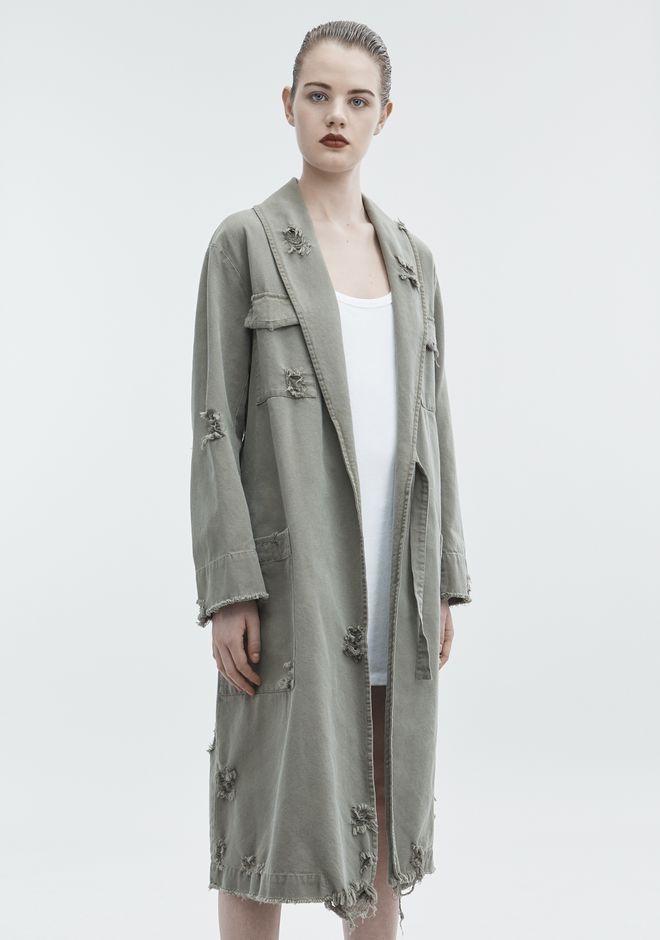 T by ALEXANDER WANG PAJAMA UTILITY TRENCH COAT JACKETS AND OUTERWEAR  Adult 12_n_a
