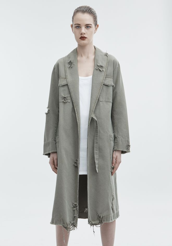 T by ALEXANDER WANG PAJAMA UTILITY TRENCH COAT JACKETS AND OUTERWEAR  Adult 12_n_d