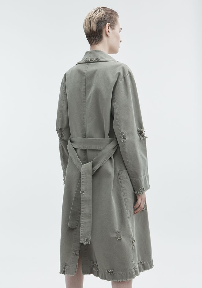 T by ALEXANDER WANG PAJAMA UTILITY TRENCH COAT JACKETS AND OUTERWEAR  Adult 12_n_e