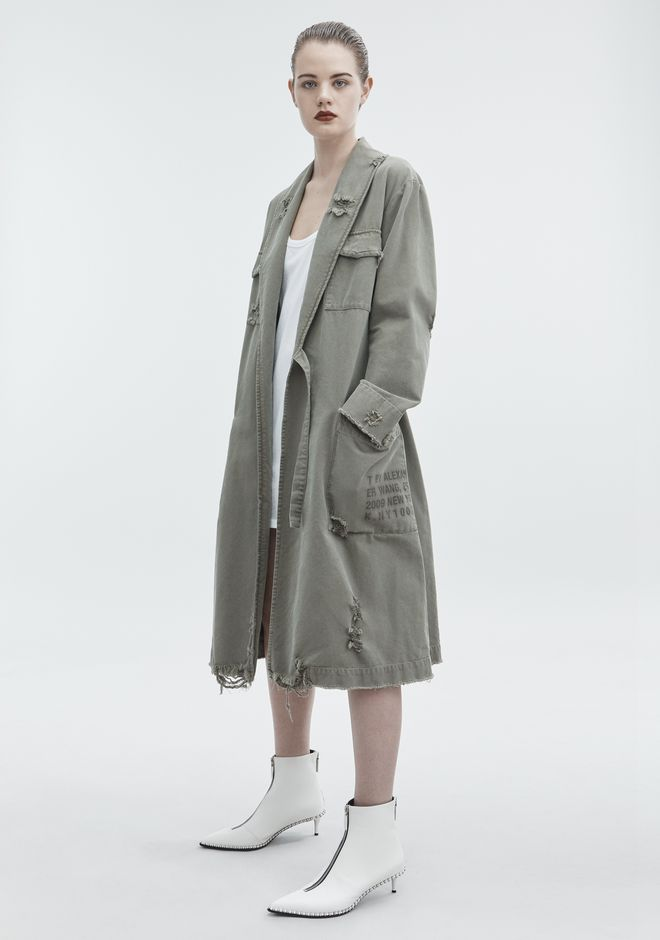 T by ALEXANDER WANG PAJAMA UTILITY TRENCH COAT JACKETS AND OUTERWEAR  Adult 12_n_f