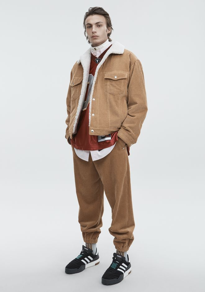 ALEXANDER WANG JACKETS AND OUTERWEAR  Men CORDUROY SHEARLING JACKET