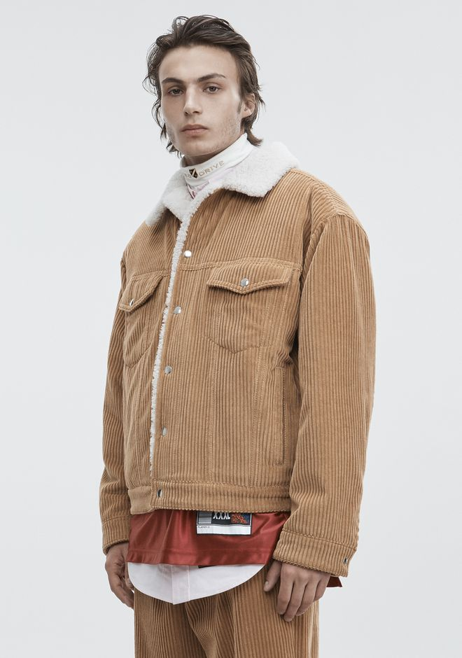 ALEXANDER WANG CORDUROY SHEARLING JACKET JACKETS AND OUTERWEAR  Adult 12_n_a