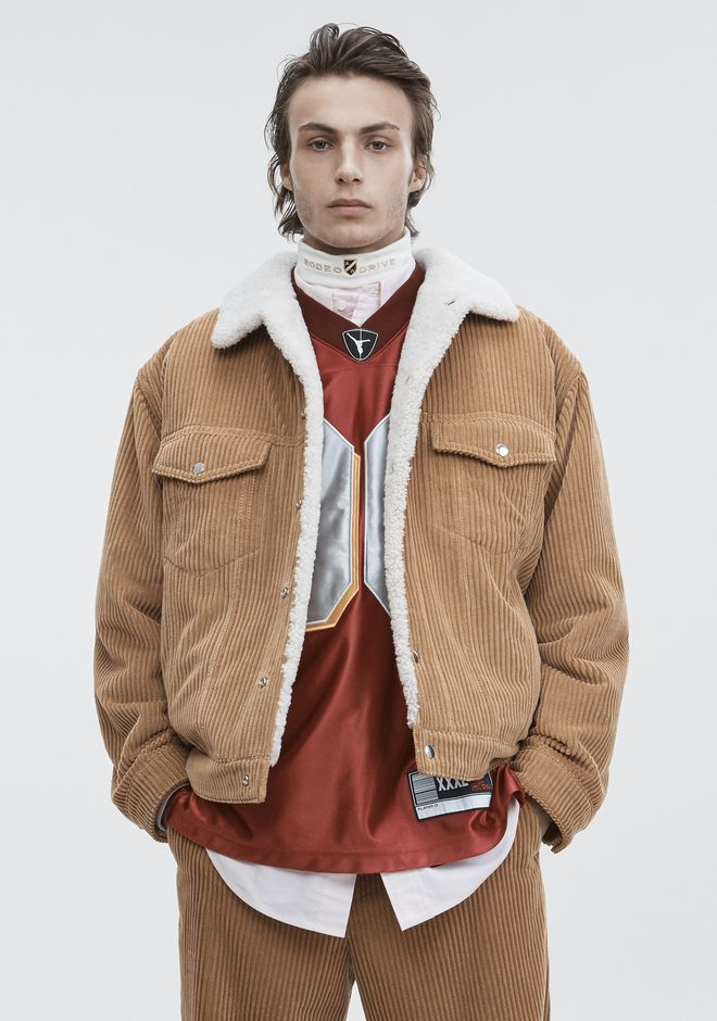 ALEXANDER WANG CORDUROY SHEARLING JACKET JACKETS AND OUTERWEAR  Adult 12_n_d