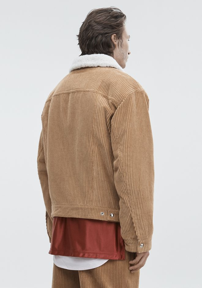 ALEXANDER WANG CORDUROY SHEARLING JACKET JACKETS AND OUTERWEAR  Adult 12_n_e