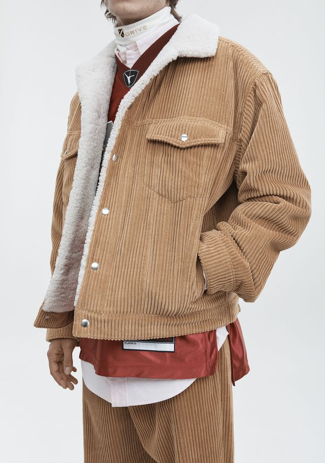 ALEXANDER WANG CORDUROY SHEARLING JACKET JACKETS AND OUTERWEAR  Adult 12_n_r