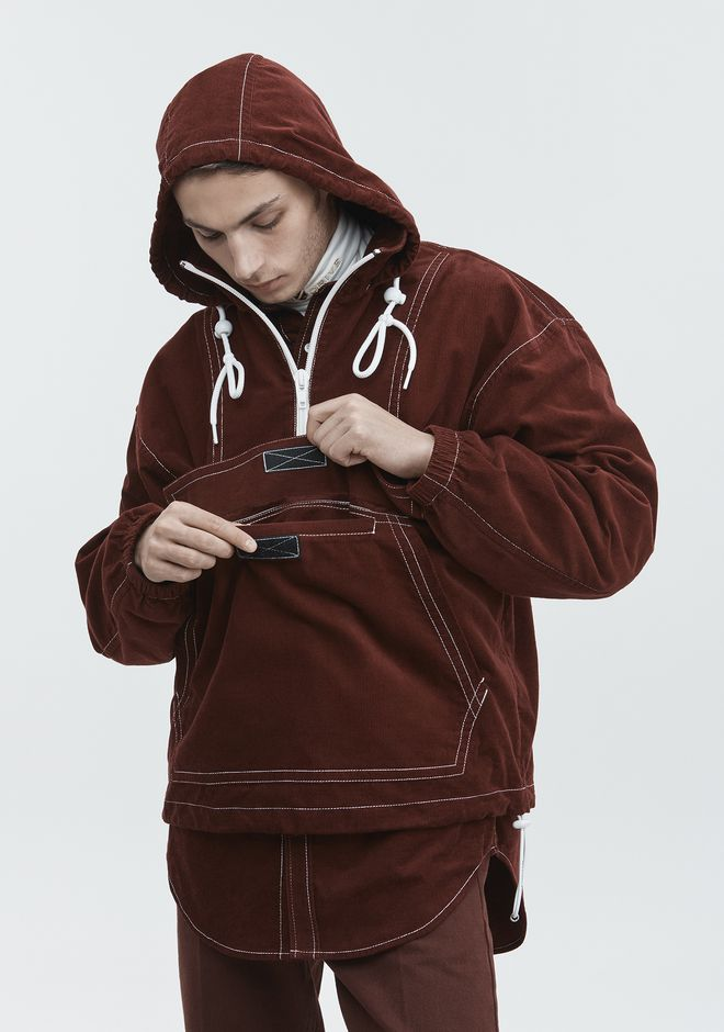 ALEXANDER WANG BABY CORD ANORAK JACKETS AND OUTERWEAR  Adult 12_n_r
