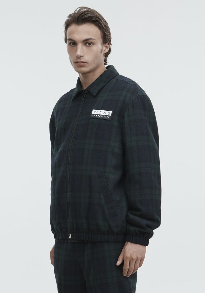 ALEXANDER WANG PLAID ZIP UP JACKET JACKETS AND OUTERWEAR  Adult 12_n_d