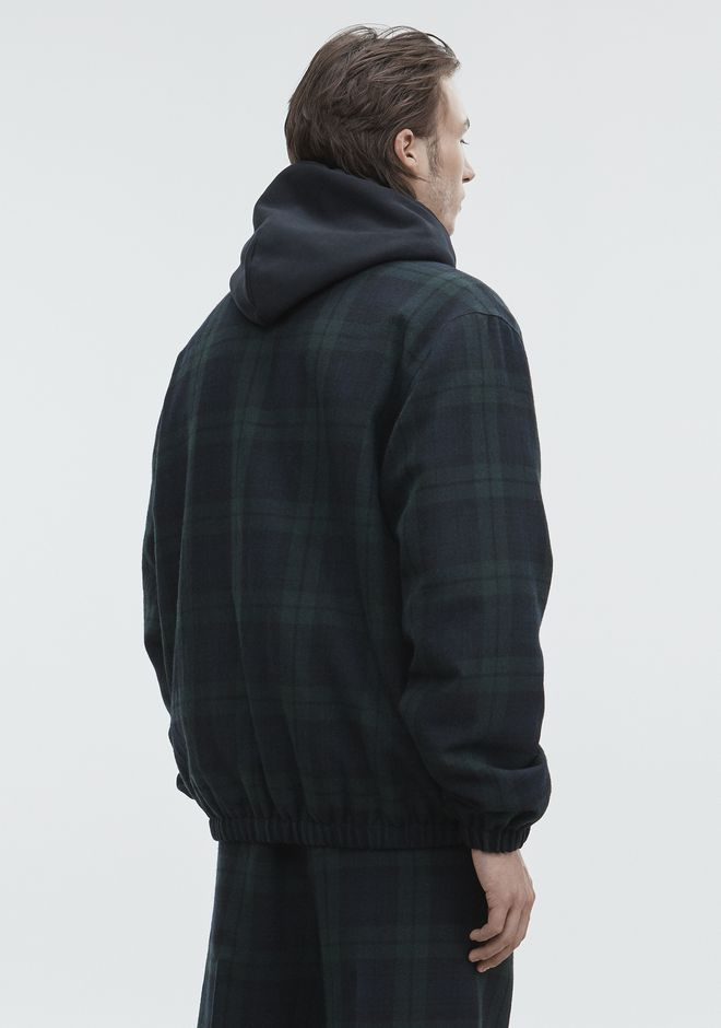 ALEXANDER WANG PLAID ZIP UP JACKET JACKETS AND OUTERWEAR  Adult 12_n_e