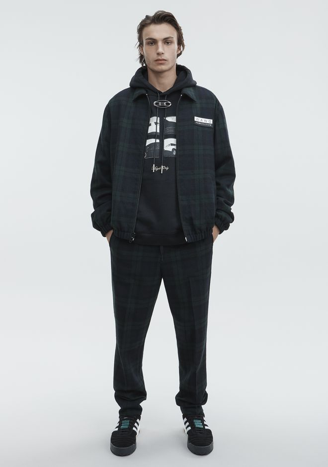 ALEXANDER WANG PLAID ZIP UP JACKET JACKETS AND OUTERWEAR  Adult 12_n_f