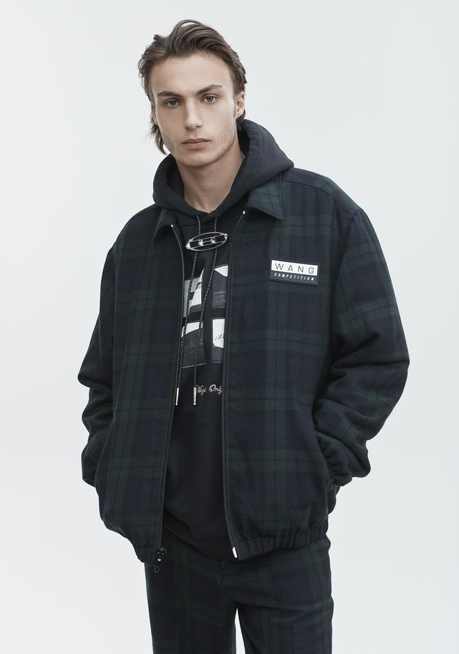 ALEXANDER WANG PLAID ZIP UP JACKET JACKETS AND OUTERWEAR  Adult 12_n_r