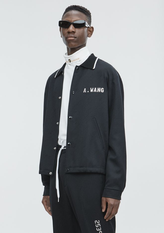 ALEXANDER WANG CREDIT CARD ZIP UP JACKET  JACKETS AND OUTERWEAR  Adult 12_n_a