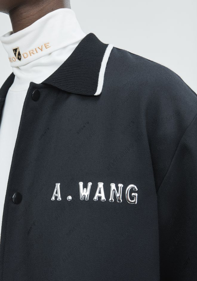 ALEXANDER WANG CREDIT CARD ZIP UP JACKET  JACKETS AND OUTERWEAR  Adult 12_n_r