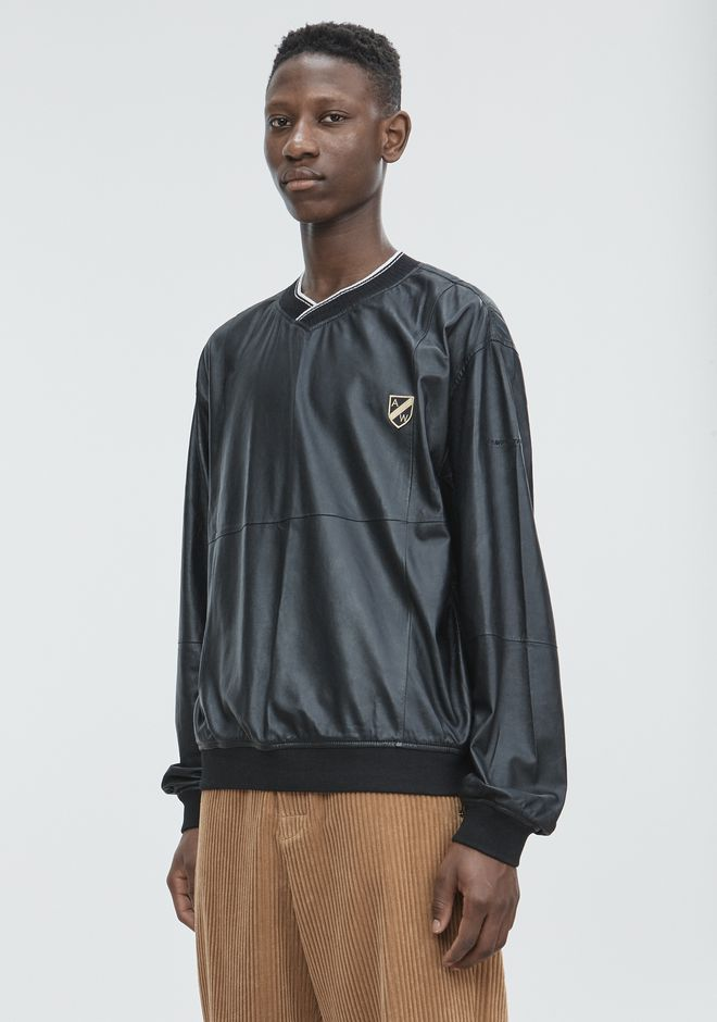 ALEXANDER WANG CREST PATCH PULLOVER TOP Adult 12_n_a