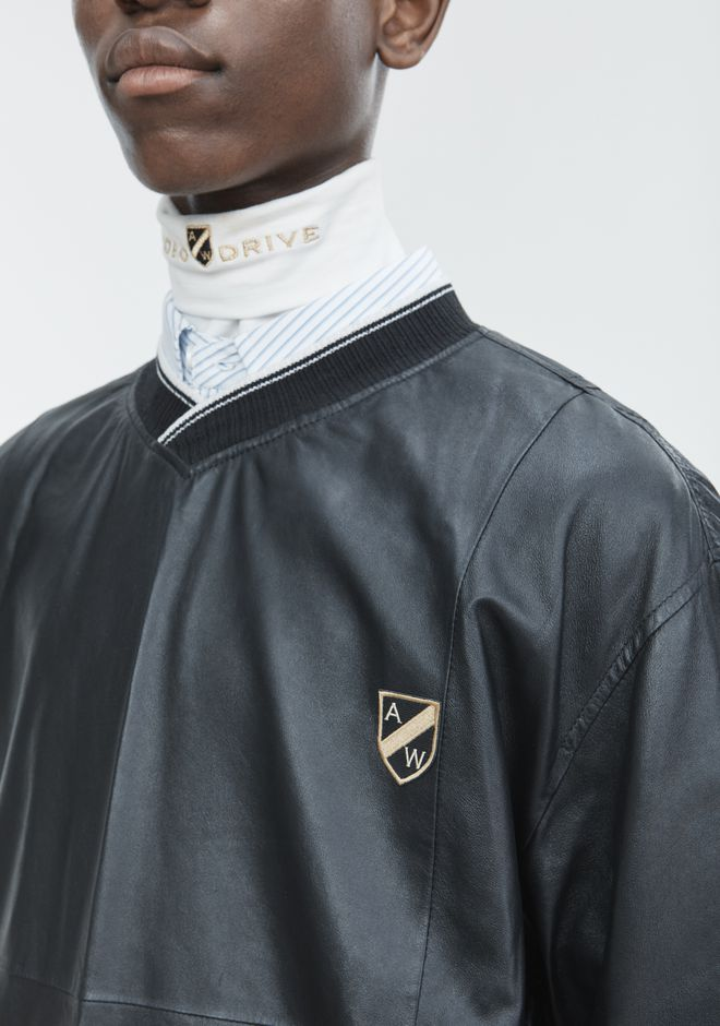 ALEXANDER WANG CREST PATCH PULLOVER TOP Adult 12_n_r