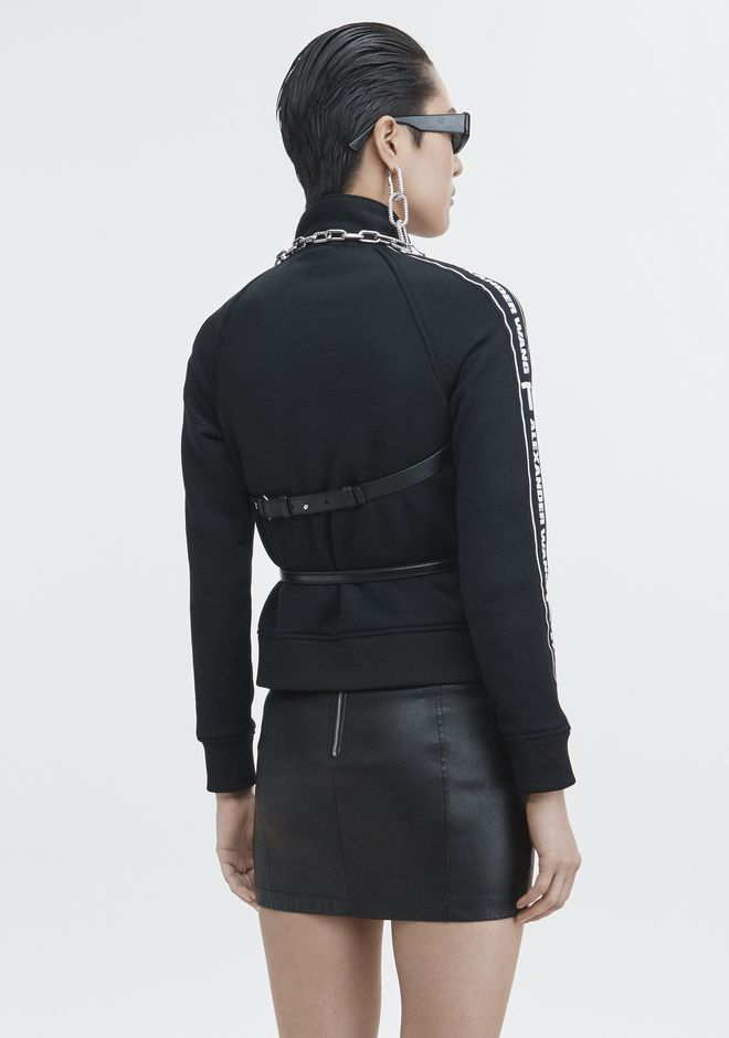 T by ALEXANDER WANG LOGO TAPE TRACK JACKET VESTES ET VÊTEMENTS OUTDOOR Adult 12_n_e