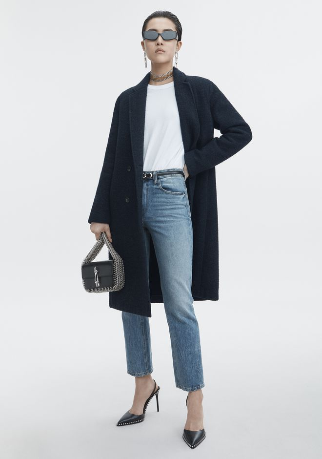T by ALEXANDER WANG classic-outerwear WOOL CAR COAT