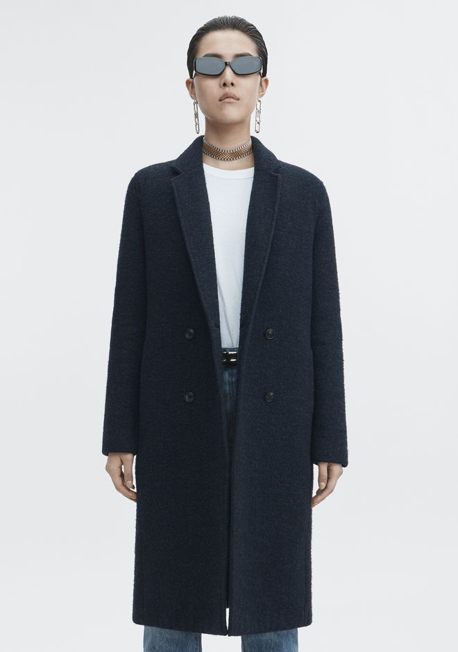 T by ALEXANDER WANG WOOL CAR COAT JACKETS AND OUTERWEAR  Adult 12_n_a