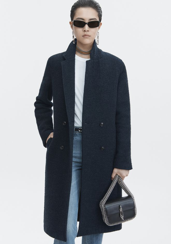 T by ALEXANDER WANG WOOL CAR COAT JACKETS AND OUTERWEAR  Adult 12_n_r
