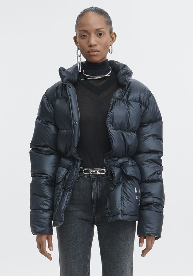 ALEXANDER WANG CREDIT CARD PUFFER COAT JACKETS AND OUTERWEAR  Adult 12_n_d
