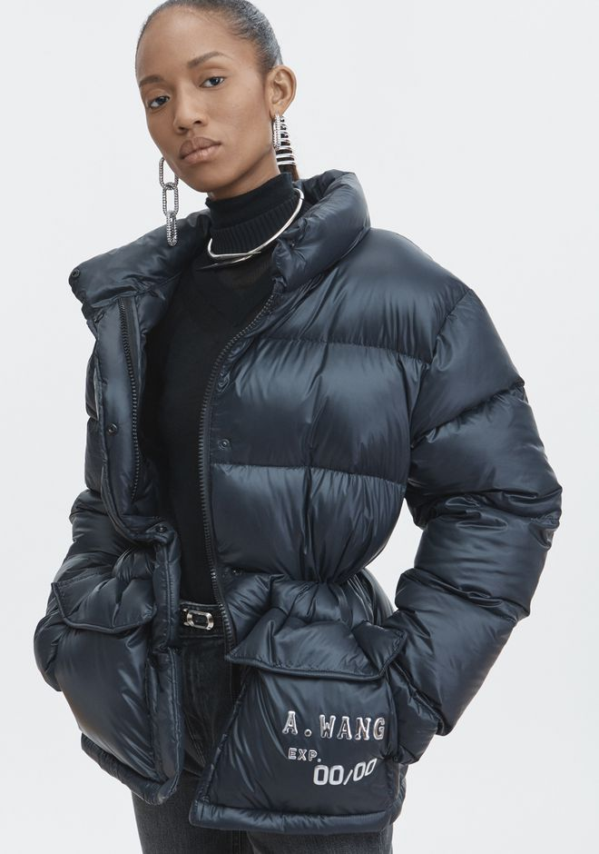 ALEXANDER WANG CREDIT CARD PUFFER COAT JACKETS AND OUTERWEAR  Adult 12_n_r