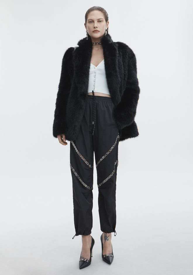 ALEXANDER WANG VESTES ET VÊTEMENTS OUTDOOR Femme FAUX FUR JACKET