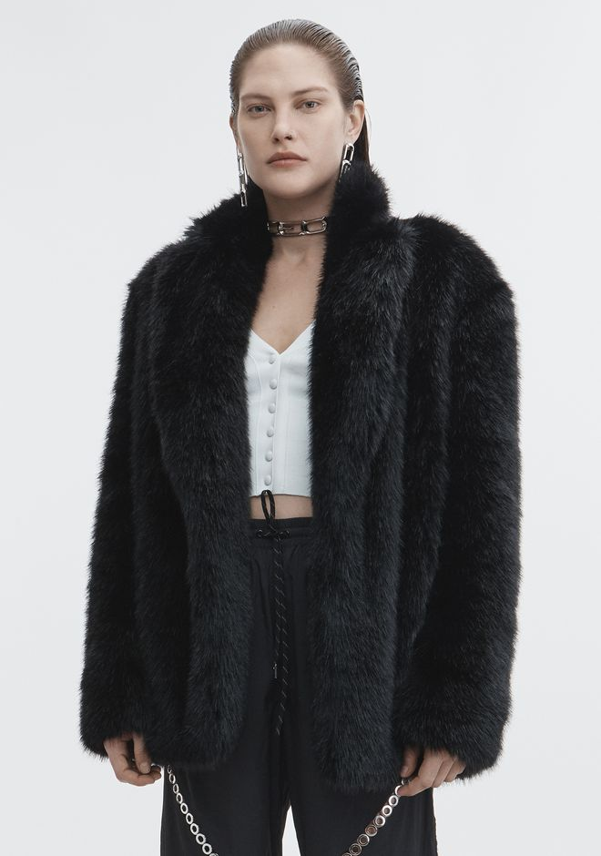 ALEXANDER WANG FAUX FUR JACKET JACKETS AND OUTERWEAR  Adult 12_n_d