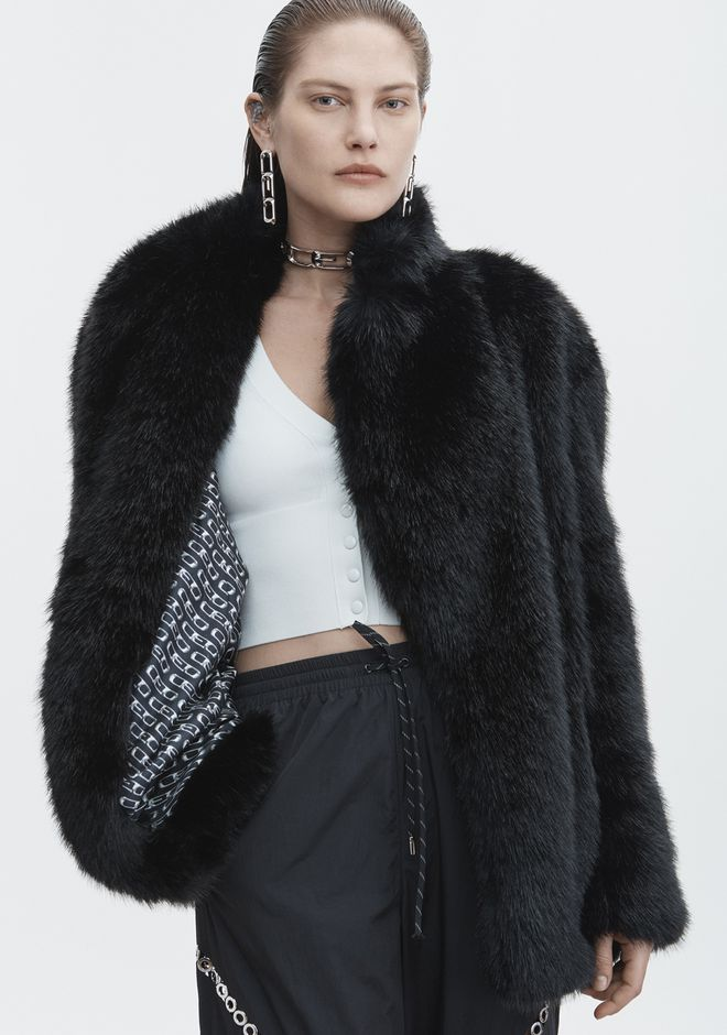 ALEXANDER WANG FAUX FUR JACKET JACKETS AND OUTERWEAR  Adult 12_n_r
