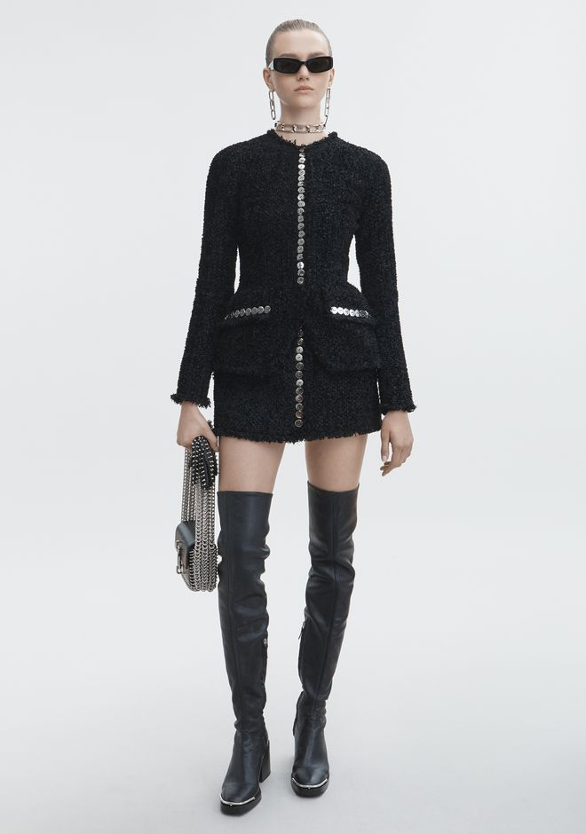 ALEXANDER WANG JACKETS AND OUTERWEAR  Women SCULPTED TWEED JACKET