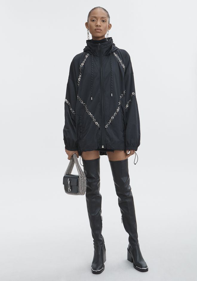 ALEXANDER WANG JACKETS AND OUTERWEAR  Women FLOATING GROMMET WINDBREAKER