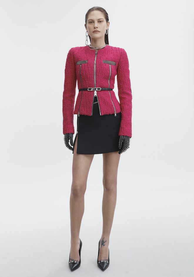 ALEXANDER WANG new-arrivals-ready-to-wear-woman HYBRID ZIP MOTO JACKET