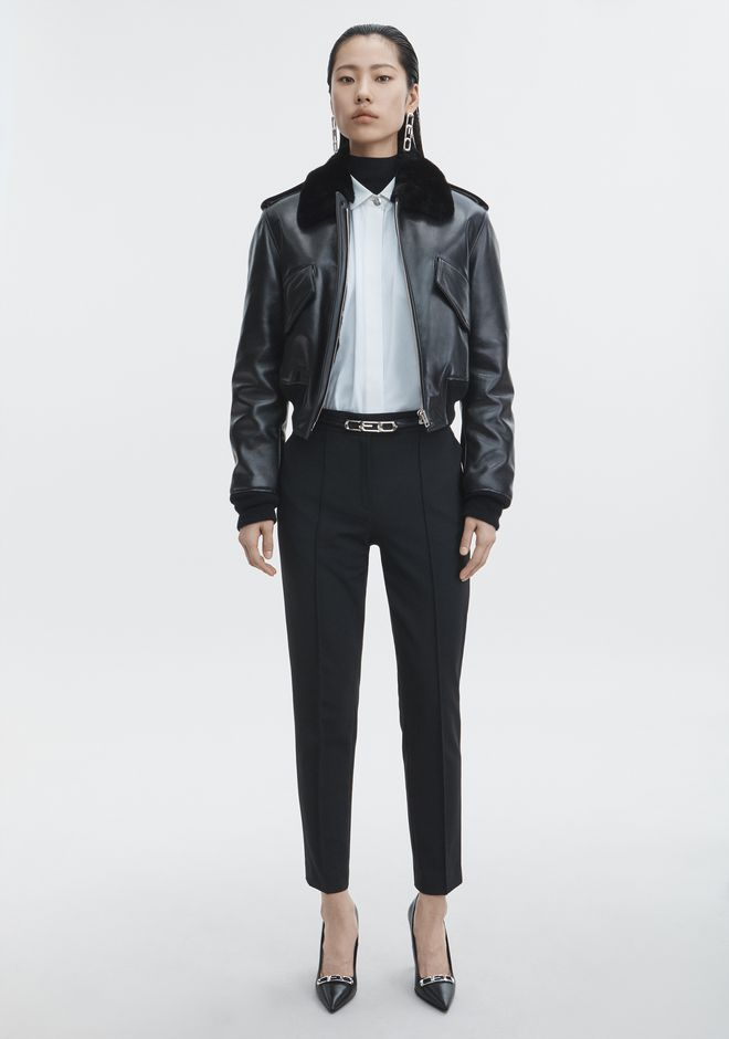 ALEXANDER WANG Short-length jackets Women CROPPED AVIATOR JACKET