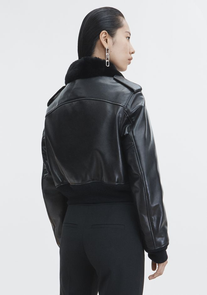 ALEXANDER WANG CROPPED AVIATOR JACKET Jacket Adult 12_n_e