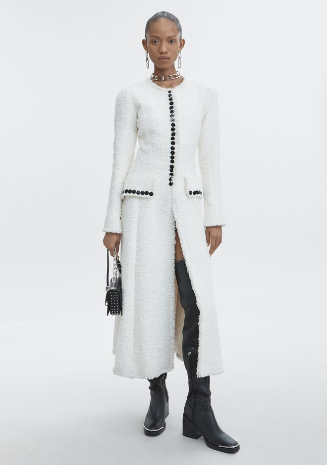 ALEXANDER WANG slrtwot TAILORED TWEED COAT