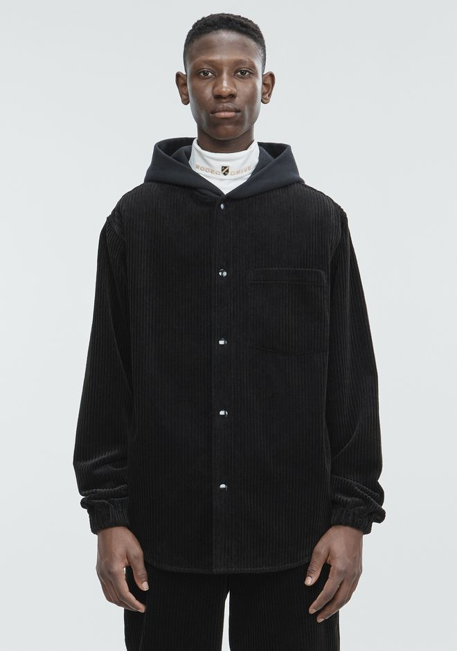 ALEXANDER WANG CORDUROY HOODIE JACKETS AND OUTERWEAR  Adult 12_n_e