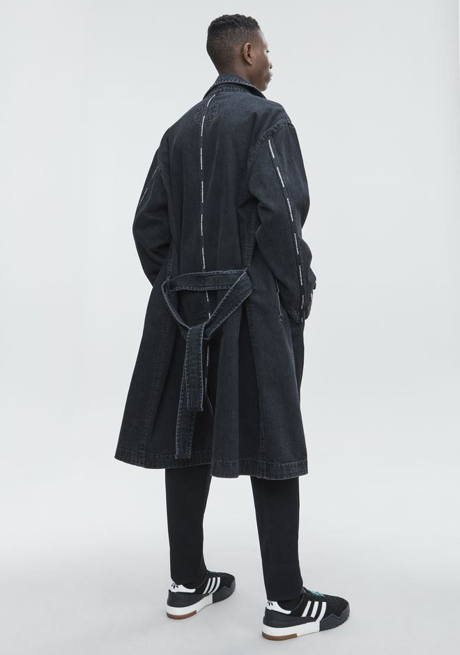 ALEXANDER WANG TRENCHES Men DENIM LABCOAT
