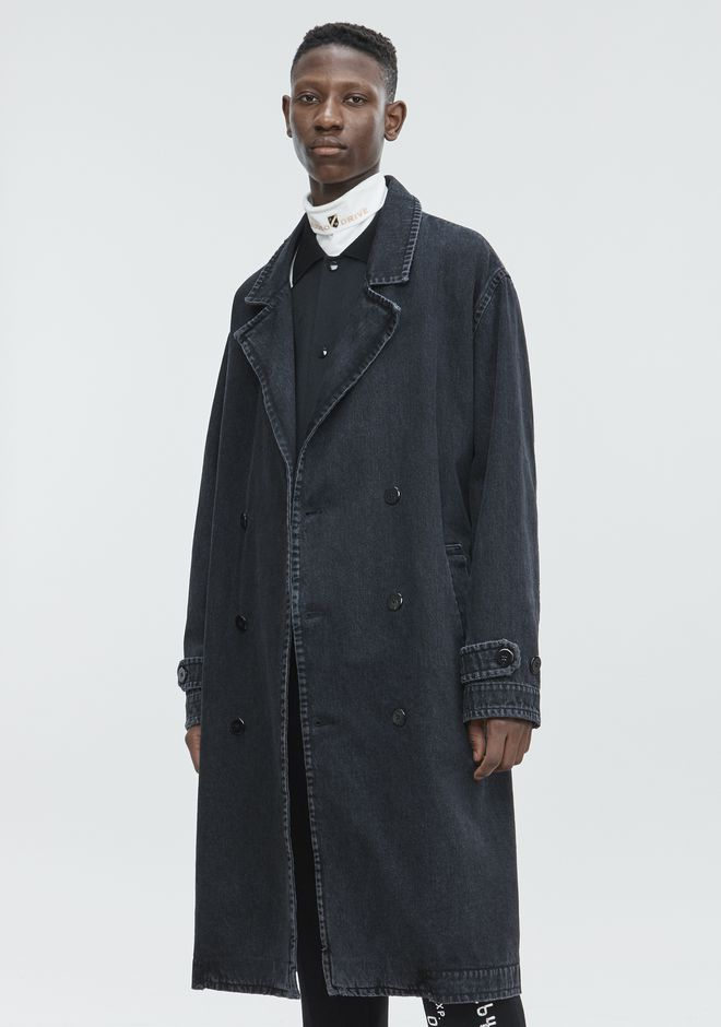 ALEXANDER WANG DENIM LABCOAT TRENCH Adult 12_n_d