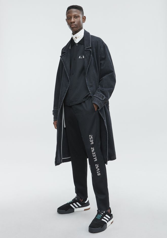ALEXANDER WANG DENIM LABCOAT TRENCH Adult 12_n_e