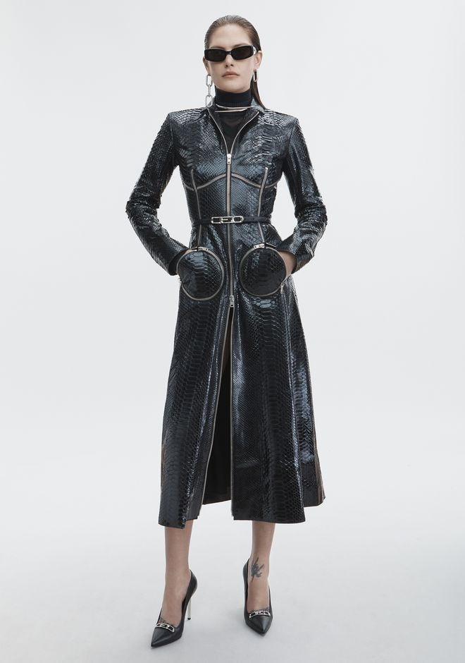 ALEXANDER WANG JACKETS AND OUTERWEAR  Women PYTHON OVERCOAT