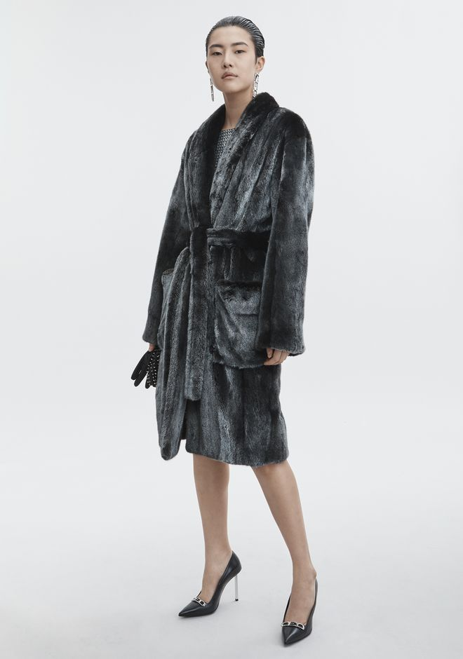 ALEXANDER WANG MINK ROBE JACKETS AND OUTERWEAR   12_n_d