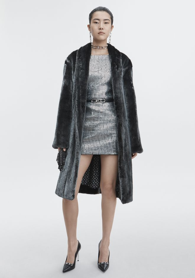 ALEXANDER WANG MINK ROBE JACKETS AND OUTERWEAR   12_n_e