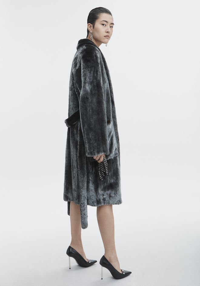 ALEXANDER WANG MINK ROBE JACKETS AND OUTERWEAR   12_n_f