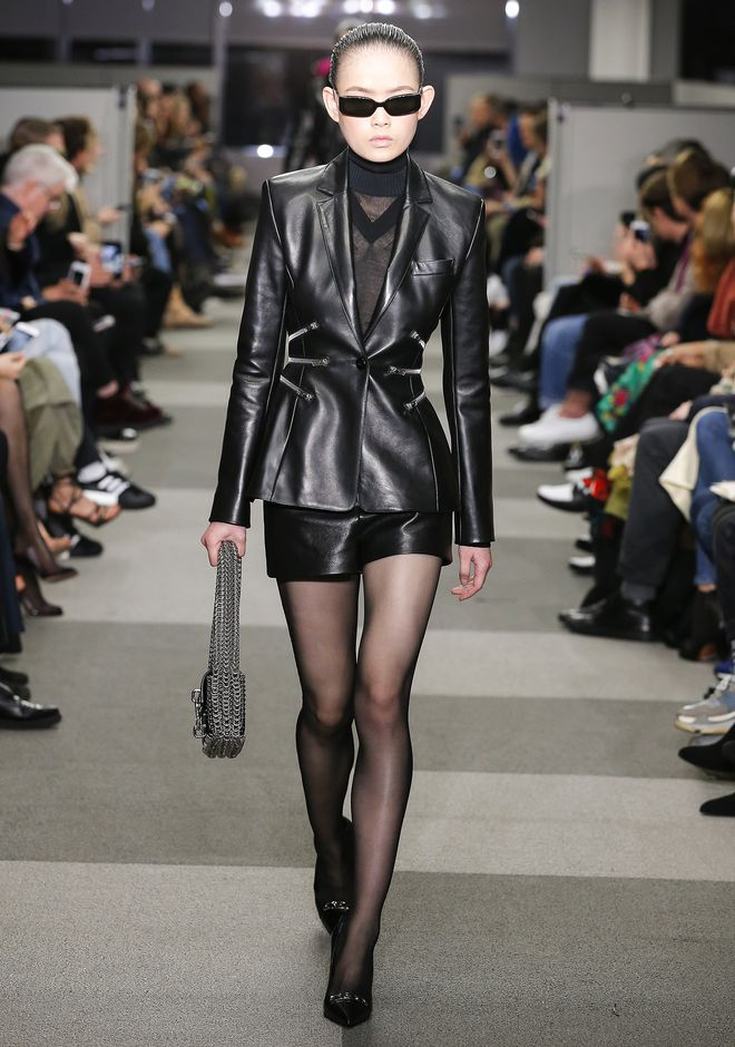 ALEXANDER WANG LEATHER BLAZER JACKETS AND OUTERWEAR  Adult 12_n_a
