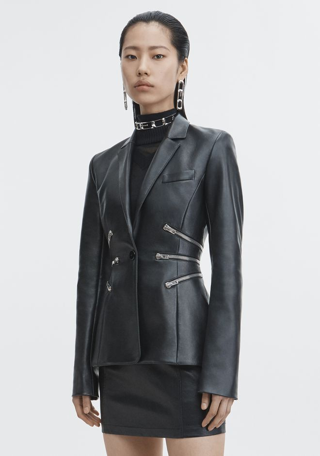 ALEXANDER WANG LEATHER BLAZER JACKETS AND OUTERWEAR  Adult 12_n_d