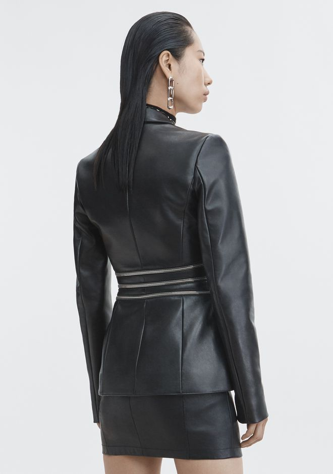 ALEXANDER WANG LEATHER BLAZER JACKETS AND OUTERWEAR  Adult 12_n_e